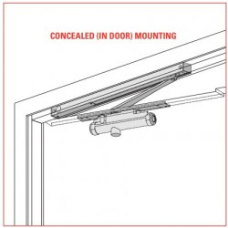 LCN 3130SE Series Concealed Mounting Single-Point Hold Open Door Closer
