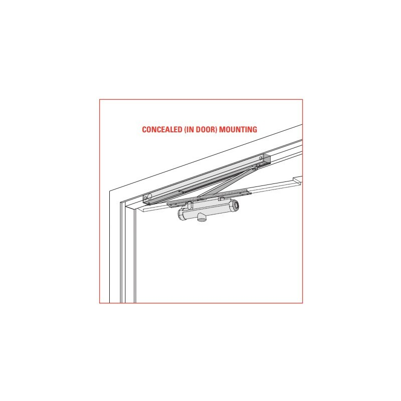 lcn 3130se series concealed mounting single