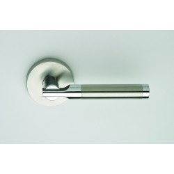 Omnia 23-00 Contemporary Two-Tone Stainless Steel Lever