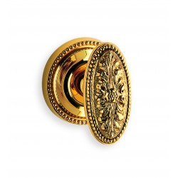 Omnia 59-00 Floral Oval Knob With Beaded Rose
