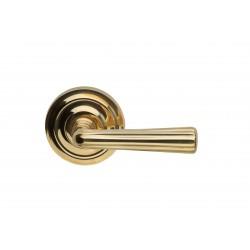 Omnia 706 Solid Brass Traditional Door Lever