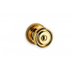 Omnia 430-00 Fancy Beaded Door Knob With Matching Rose