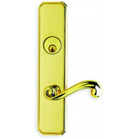 Omnia D11055 Classic Deadbolt Scroll Lever Entry Door Lockset