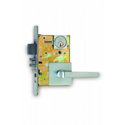 Omnia 2036S Contemporary Mortise Lockset - Square Rose
