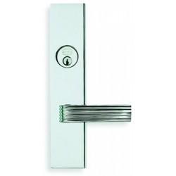 Omnia D12362 Modern Chrome Door Lever Entry Door Lockset
