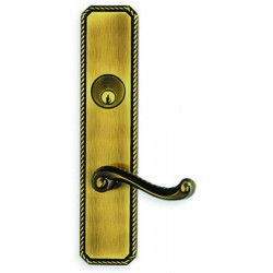 Omnia D24570 Rope Pattern with Scroll Lever Entry Door Lockset