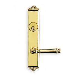 Omnia 63904 Traditional Lever Narrow Backset Mortise Lockset