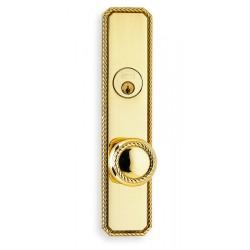 Omnia 24441 Decorative Rope Door Knob Mortise Lockset