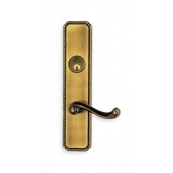 Omnia 24570 Rope Pattern Lever Mortise Lockset