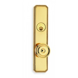 Omnia 25430 Decorative Beaded Pattern Door Knob Mortise Lockset