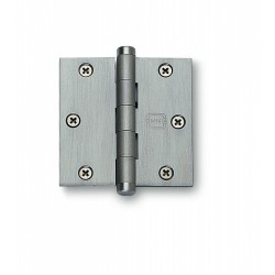 Omnia 985-35BTN-00 Solid Brass Full Mortise Hinges