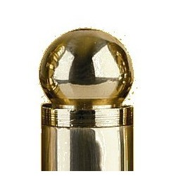 Omnia 085-BAL2 Solid Brass Ball Hinge Finials