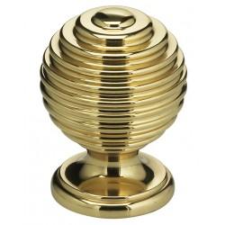 """Omnia 9107-25 Solid Brass Retro Cabinet Knob 1"""""""