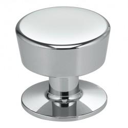 "Omnia 9151-25 Solid Brass Modern Cabinet Knob 1"""