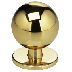 "Omnia 9165-30 Knob 1 3/16"" Solid Brass Cabinet Hardware"