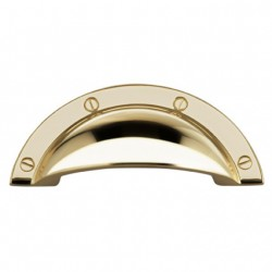 "Omnia 9454-64 Cup Pull 2-1/2"" Solid Brass Cabinet Hardware"