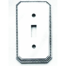 Omnia 8004-S Beaded Switchplate - Single