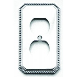 Omnia 8004-R Beaded Switchplate - Receptacle
