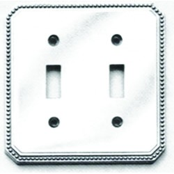 Omnia 8004-D Beaded Switchplate - Double