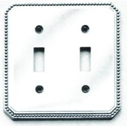 Omnia 8004-C Beaded Switchplate - Combination