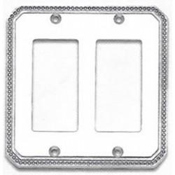 Omnia 8005-D Beaded Switchplate - Double Rocker Cutout