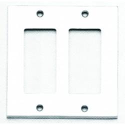 Omnia 8023-D Modern Switchplate -Double Rocker Cutout