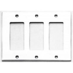 Omnia 8023-T Modern Switchplate -Triple Rocker Cutout