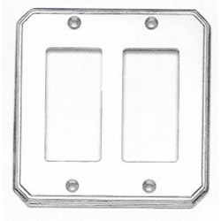 Omnia 8024-D Traditional Switchplate - Double Rocker Cutout