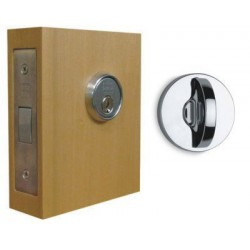 Omnia 041M-NAC Modern Mortise Deadlock - Double Cylinder