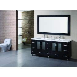 "Design Element Stanton 72"" Double Sink Vanity Set"
