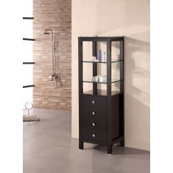"Design Element Espresso 60"" Linen Cabinet"