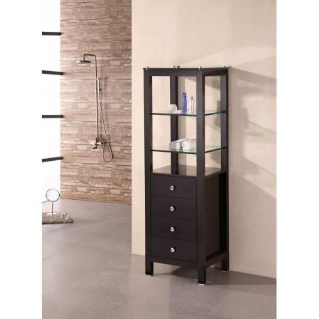 "Design Element Espresso 60"" Linen Cabinet"