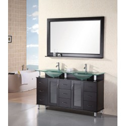 "Design Element Huntington 60"" Double Sink Vanity Set"