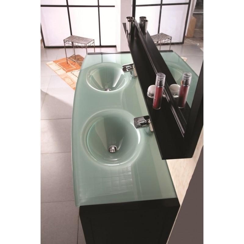 Waterfall 72 espresso finish double sink vanity set dec016b for Waterfall set design