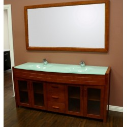 "Design Element Waterfall 72"" Double Sink Vanity Set"