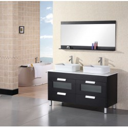 "Design Element Francesca 55"" Double Sink Vanity Set"