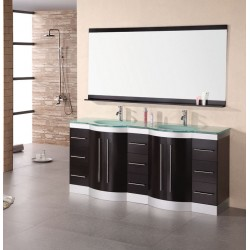 "Design Element Jade 72"" Double Sink Vanity Set"