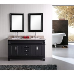 "Design Element Hudson 60"" Double Sink Vanity Set"