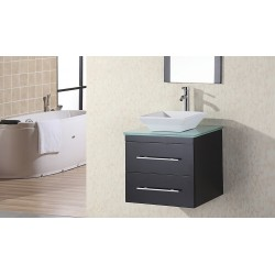 "Design Element Portland 24"" Single Sink - Wall Mount Vanity Set"