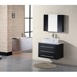 "Design Element Portland 30"" Single Sink - Wall Mount Vanity Set"