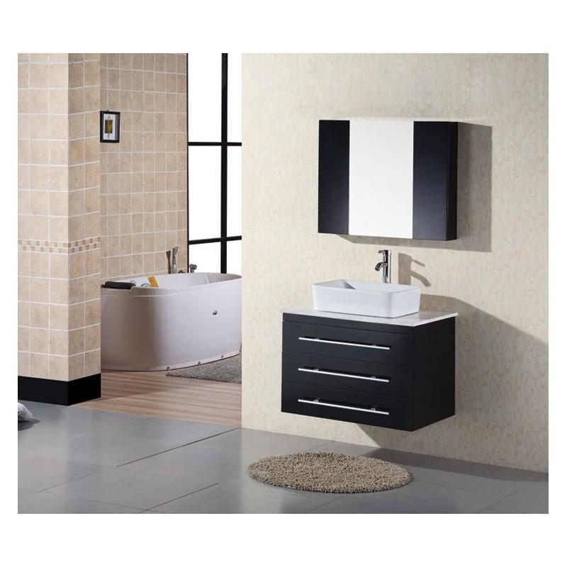 30 Quot Wall Mount Single Vessel Sink Vanity With Carrera