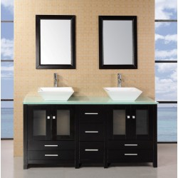 "Design Element Arlington 61"" Double Sink Vanity Set"