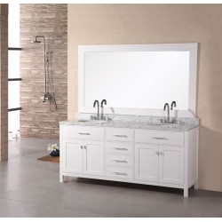 "Design Element London 61"" Double Sink Vanity Set"