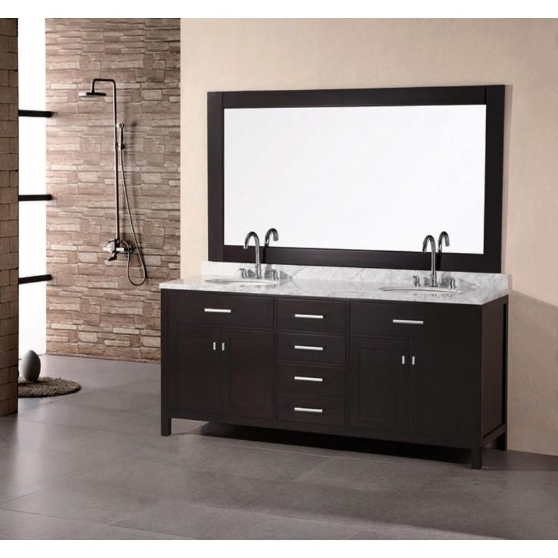 Design Elements London 72 Double Sink Vanity Set DEC076B