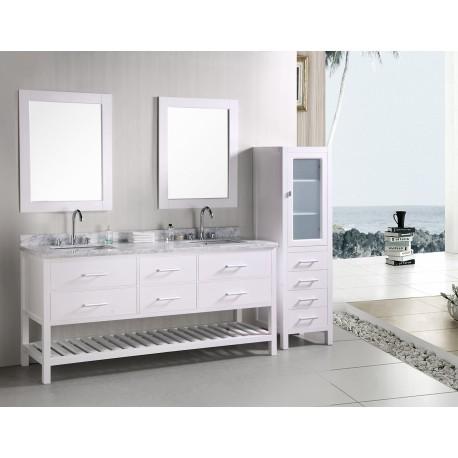 "Design Element London 72"" Double Sink Vanity Set"