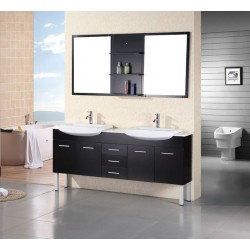 "Design Element Belini 72"" Double Sink Vanity Set"