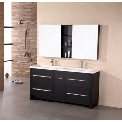 "Design Element Perfecta 63"" Double Sink Vanity Set"