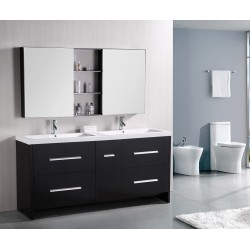 Design Element Perfecta 72' Double Sink Vanity Set (DEC079B)