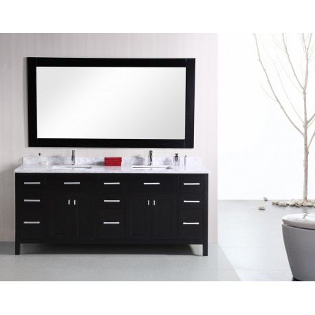 Design elements london 78 double sink vanity set dec088 for 78 double sink bathroom vanity