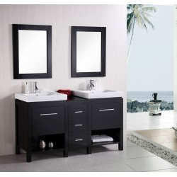 "Design Element New York 60"" Double Sink Vanity Set"